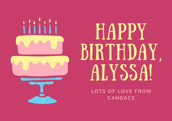 Birthday Card Templates - Canva - birthday card layout