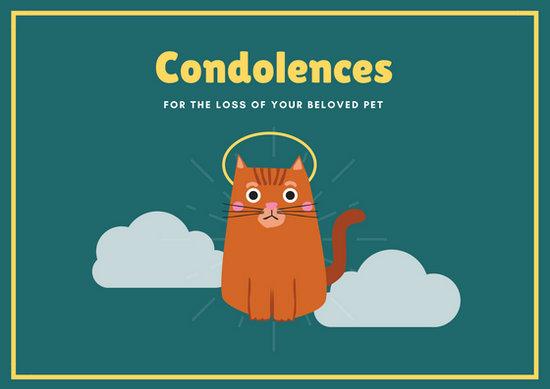 Customize 162+ Pet Sympathy Card templates online - Canva