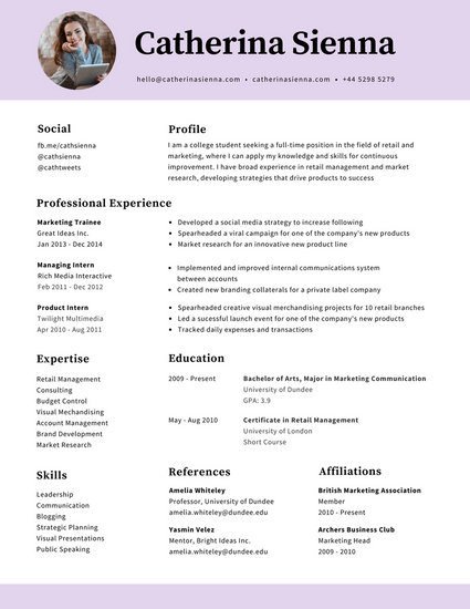 Customize 320+ Photo Resume templates online - Canva