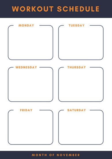 Customize 47+ Workout Planner templates online - Canva