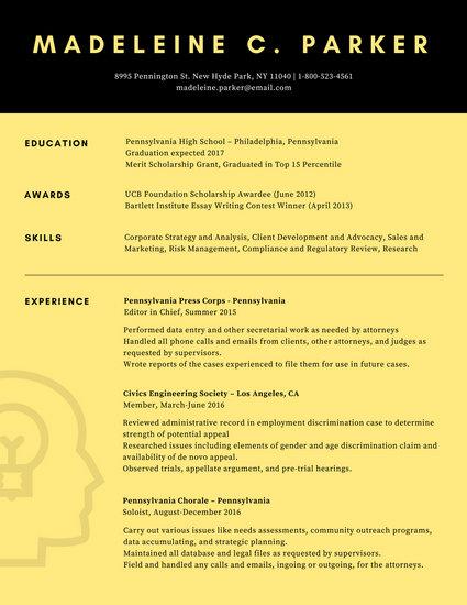 Customize 32+ Scholarship Resume templates online - Canva