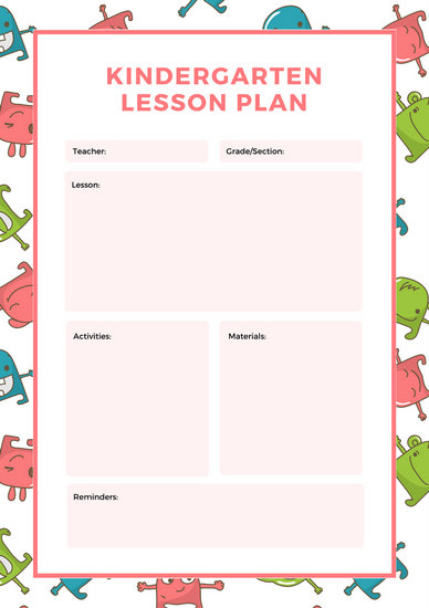 White Circles English Lesson Plan - Templates by Canva