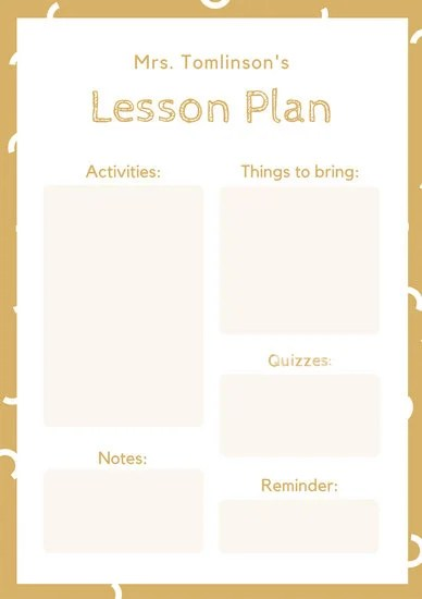 Customize 1,311+ Lesson Plan templates online - Canva - lesson plan outline