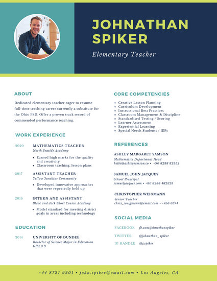 Customize 764+ Modern Resume templates online - Canva - Resume With Photo Template