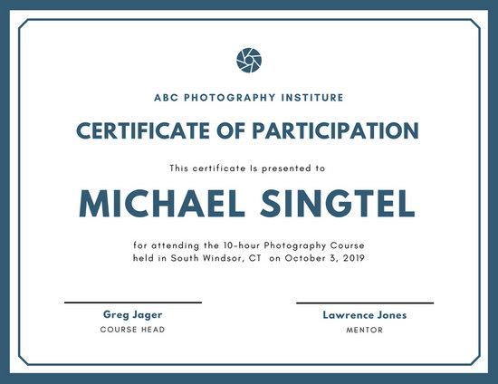 Customize 119+ Participation Certificate templates online - Canva - certificate of participation format