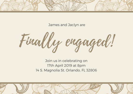 Customize 89+ Engagement Card templates online - Canva - engagement card template