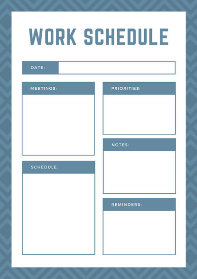 Customize 139+ Work Schedule Planner templates online - Canva