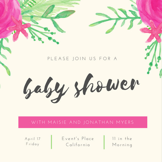 Customize 832+ Baby Shower Invitation templates online - Canva - Editable Baby Shower Invitations