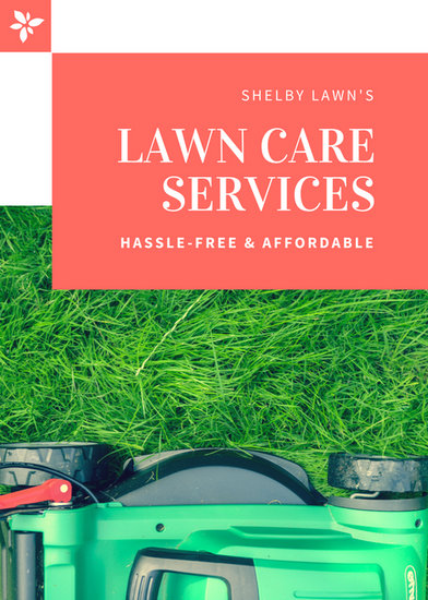 Coral Modern Lawn Care Flyer - Templates by Canva - lawn services flyer