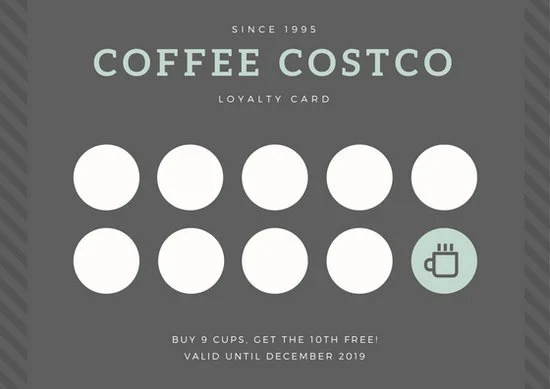 Gray Coffee Loyalty Card - Templates by Canva - membership cards templates