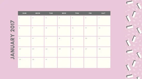 Pastel Patterned Daily Calendar - Templates by Canva - daily calendar