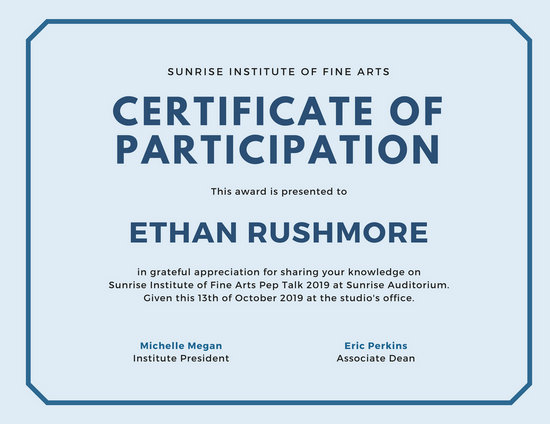 Customize 119+ Participation Certificate templates online - Canva