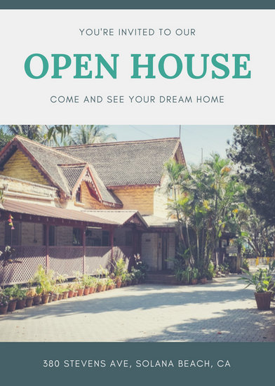 Green Border Open House Flyer - Templates by Canva - open house flyer