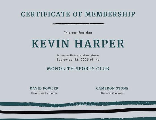Customize 64+ Membership Certificate templates online - Canva - sample membership certificate