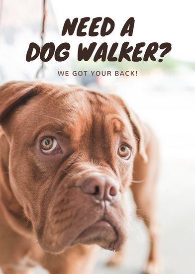 Brown Photo Dog Walking Flyer - Templates by Canva
