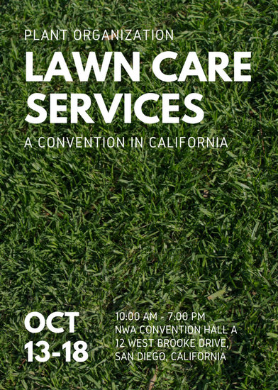 Green Grass Photo Lawn Care Flyer - Templates by Canva - lawn services flyer