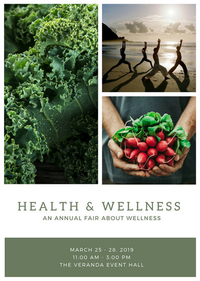 health and wellness flyer template