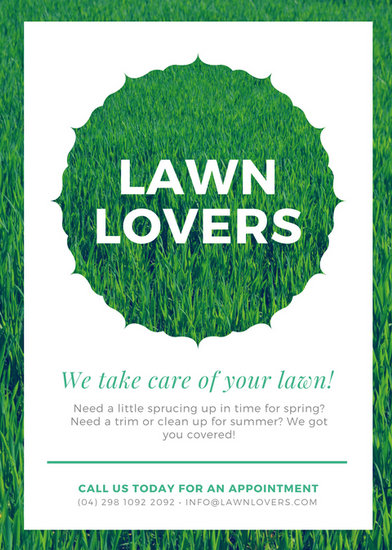 Green Creative Lawn Care Service Flyer - Templates by Canva - lawn services flyer