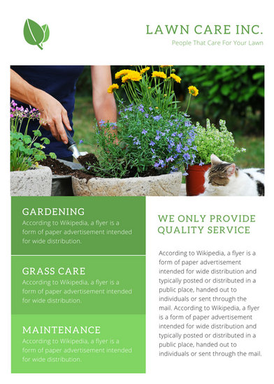 Green  White Simple Lawn Care Flyer - Templates by Canva