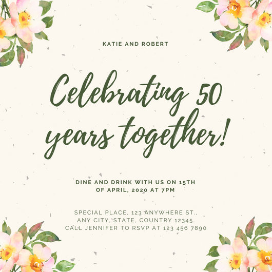 Customize 1,796+ 50th Anniversary Invitation templates online - Canva