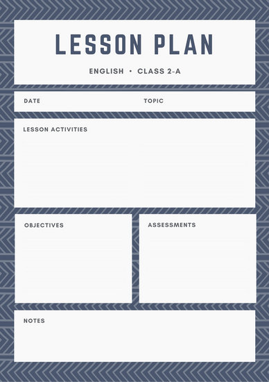 Black Square Pattern Lesson Plan - Templates by Canva - elementary lesson plan template