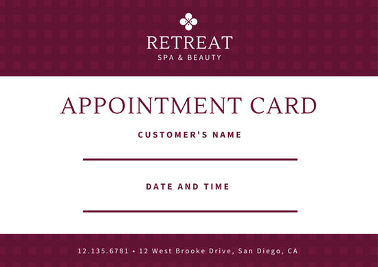appointment cards templates the-links - sample appointment card template