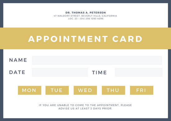 Mint Green and White Appointment Card - Templates by Canva - appointment cards free templates