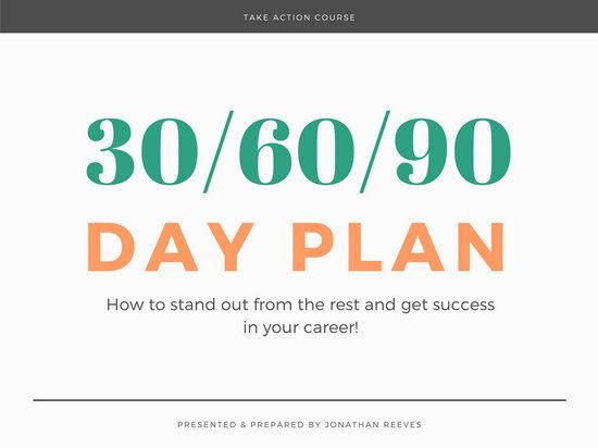 Yellow  Black Modern Bold Creative 30 60 90 Day Plan Presentation - 90 day plan template