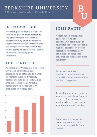 Dark Blue and Orange Simple Research Poster - Templates by Canva - research poster
