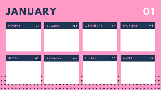 Customize 58+ Weekly Calendar templates online - Canva