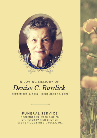 Customize 65+ Funeral Program templates online - Canva - program for a funeral