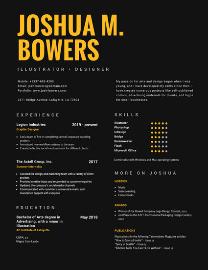 Customize 563+ Graphic Design Resume templates online - Canva
