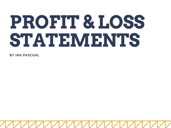Yellow and Blue Profit and Losses Statement Presentation - Templates