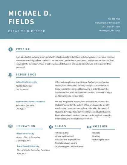 Customize 64+ Academic Resume templates online - Canva