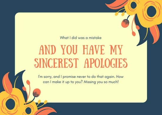 apologies card - Onwebioinnovate - apology card messages