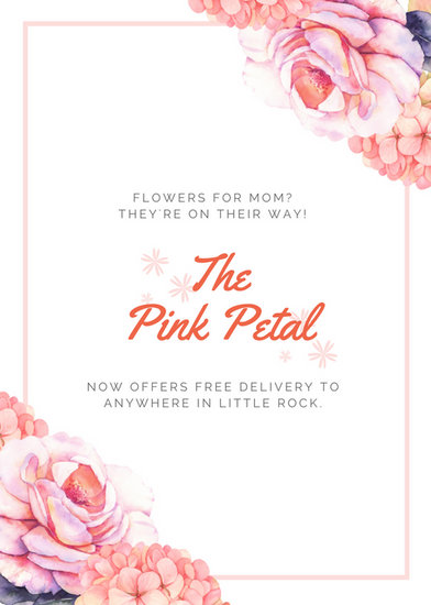 Pink Minimalist Flowers Mother\u0027s Day Flyer - Templates by Canva - mothers day flyer