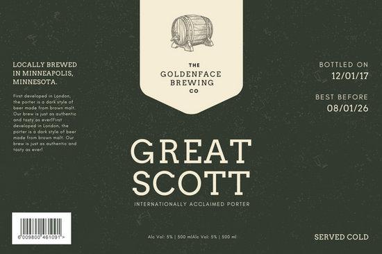 Dark Elegant Minimalist Beer Label - Templates by Canva