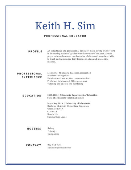 professional teacher resumes - Minimfagency - teaching professional resumes