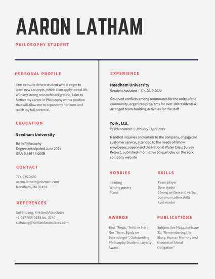 Minimalist Videographer Resume - Templates by Canva - videographer resume