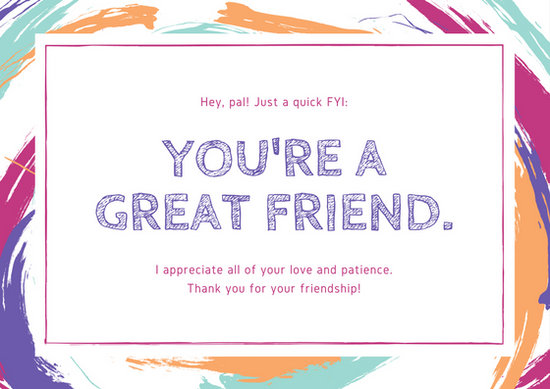 Customize 99+ Friendship Card templates online - Canva