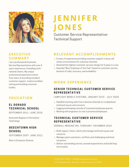 Turquoise Simple Photo Resume - Templates by Canva