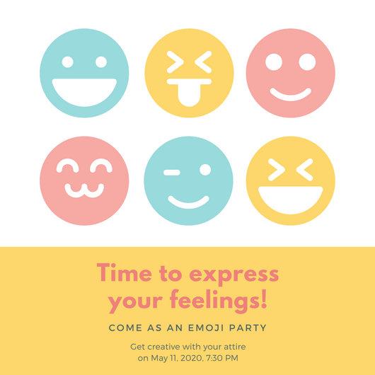 Customize 4,000+ Emoji Party Invitation templates online - Canva