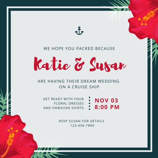 Customize 1,390+ Destination Wedding Invitation templates online - Canva