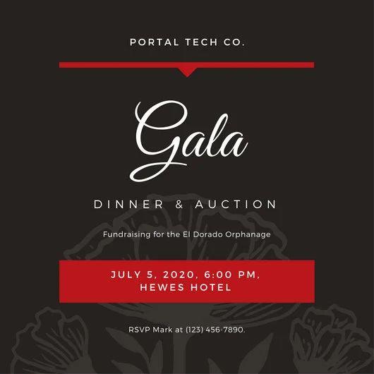 gala invitation templates