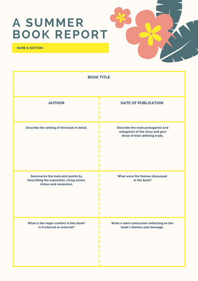High School Book Report Template Images - Template Design Ideas - school book report template
