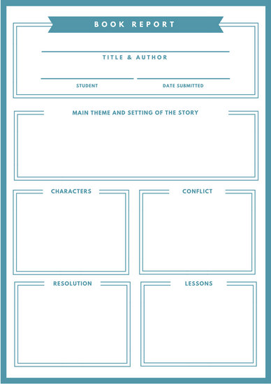 Green Bordered Ribbon Non Fiction Book Report - Templates by Canva