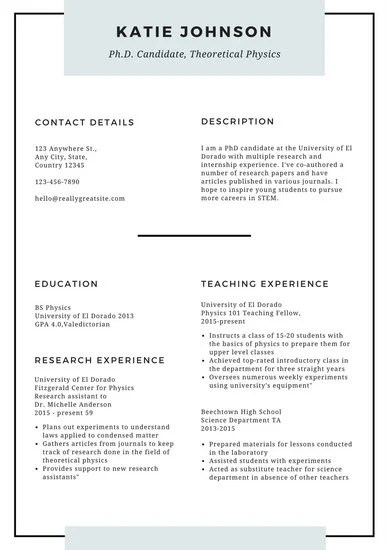 White Minimal Scholarship Resume - Templates by Canva
