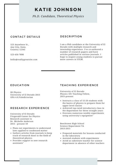 sample resume english tutorial