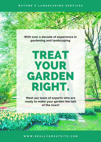 Green Garden Photo Lawn Care Flyer - Templates by Canva