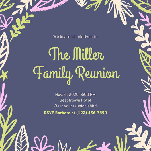 Peach Lanterns Get Together Invitation - Templates by Canva